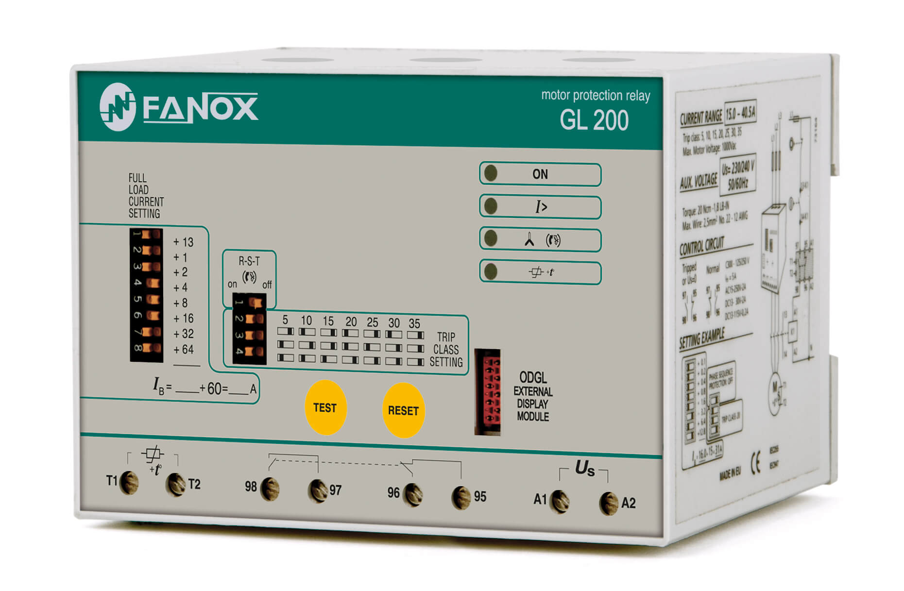 Tree phase pump protection relay 200A