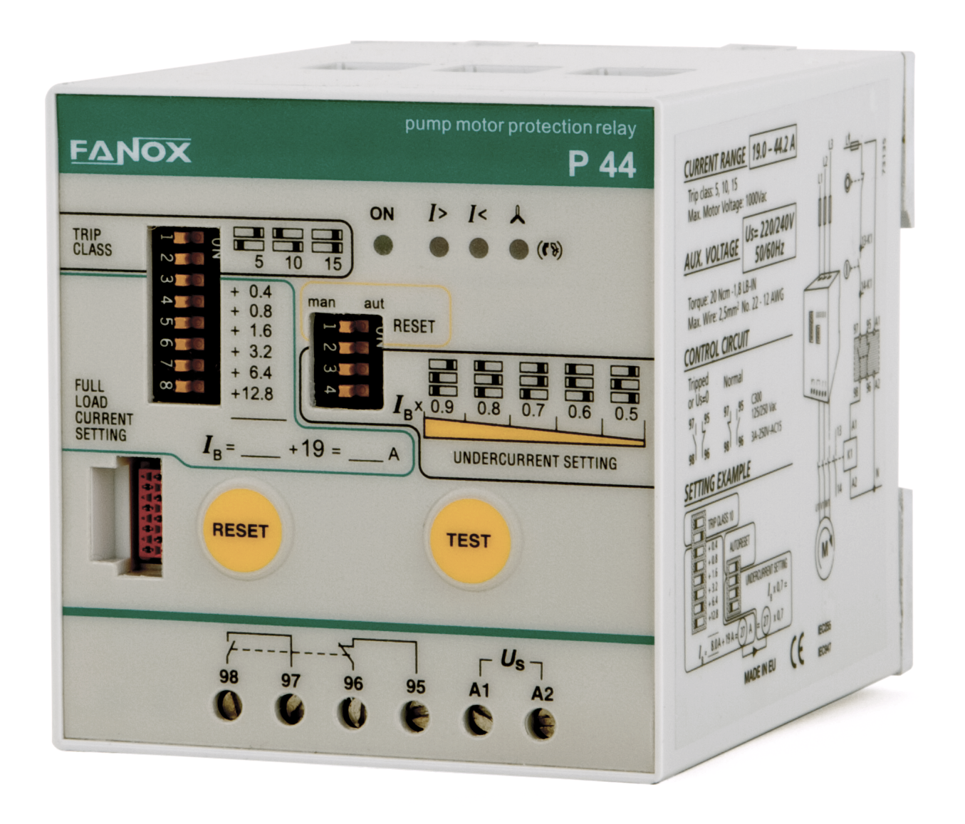 Tree phase pump protection relay