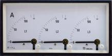 đồng hồ kim đo điện áp - dòng điện 3 pha